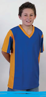BOYS KOOLMESH V-NECK PANEL