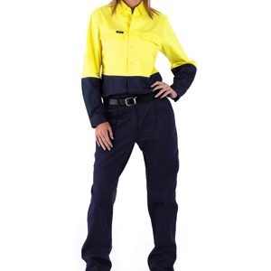 BL6267 Womens Long Sleeve 2 Tone Hi Vis Drill Shirt