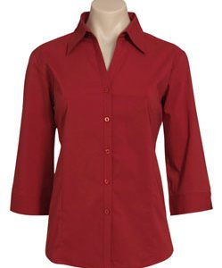 LB7300 – Ladies 3/4 Sleeve Metro Stretch Shirt
