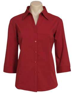 LB7300 – Ladies 3/4 Sleeve Metro Stretch Shirt