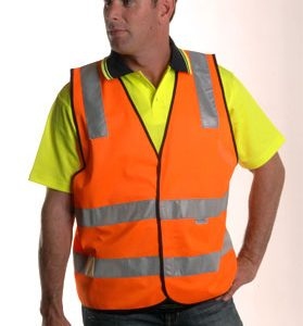 Hi-Visibility Safety Vest With Reflective Tape