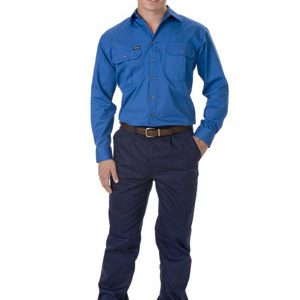 Bisley Drill Shirt Long Sleeve