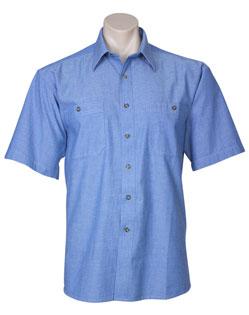 SH112 – Mens LongSleeve Wrinkle Free Chambray Shirt –