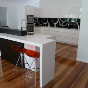 Black & White Splash Back